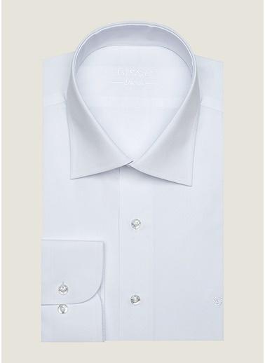 Bisse GM18K82915 Regular Fit Düz Klasik Gömlek Beyaz